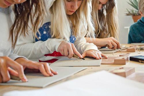 Mariefredsskolan 6A på Grafikens Hus