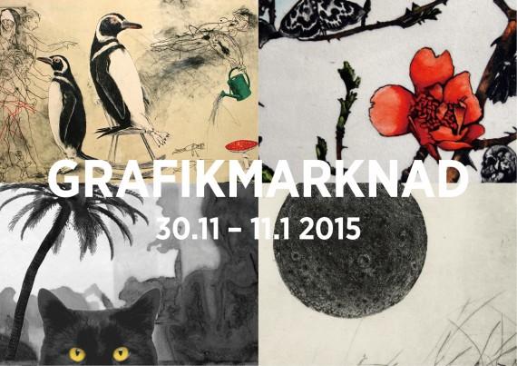 Grafikmarknad med 16 inbjudna konstnärer